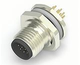 Коннектор Tyco M12 с 8/12 контактами для установки на панели и печатные платы