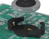 Держатели Keystone Electronics для плоских батареек диаметром 12 мм с поддержкой автоматической установки